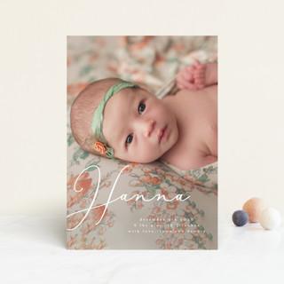sweetness in script Birth Announcement Petite Cards