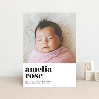 Modern Serif Birth Announcement Petite Cards