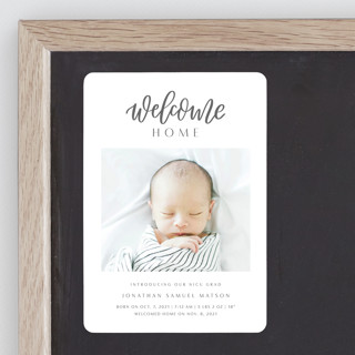 Welcome Home Baby Birth Announcement Magnets