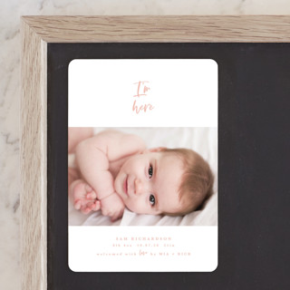 I'm Here Birth Announcement Magnets