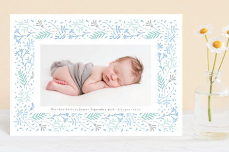 Floral Love Birth Announcement Postcards
