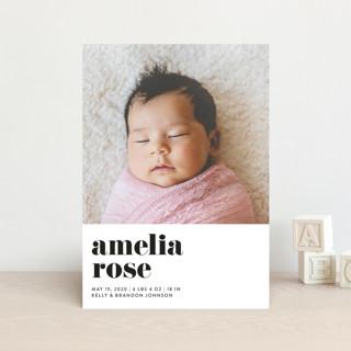Modern Serif Birth Announcement Postcards