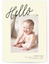 A BIG Hello Birth Announcement Postcards