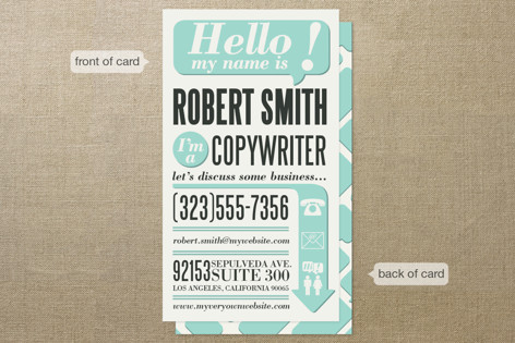 Hello, I'm A Business Cards