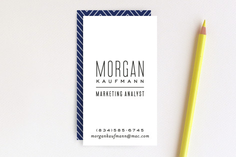 Skinny Type Business Cards