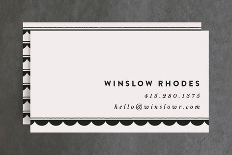 Scalloped Swagger Business Cards