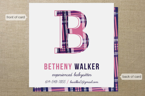 Babysitters Club Business Cards