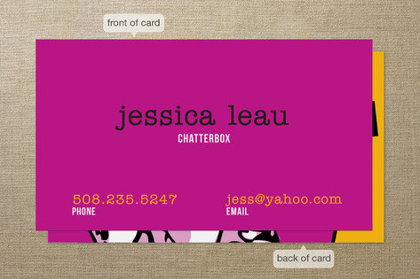 Retro Chatterbox Business Cards