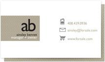 Monogram Logo Business Cards