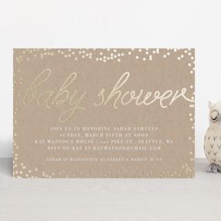 Starlight Foil-Pressed Baby Shower Invitations