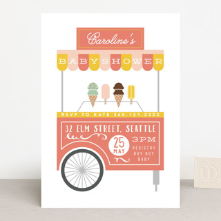 Eating for two Baby Shower Invitations