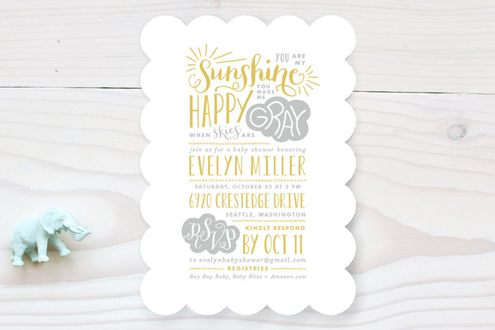 sunshine baby shower invitations by lauren chism minted