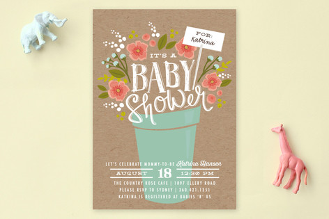 special delivery bouquet baby shower invitations minted