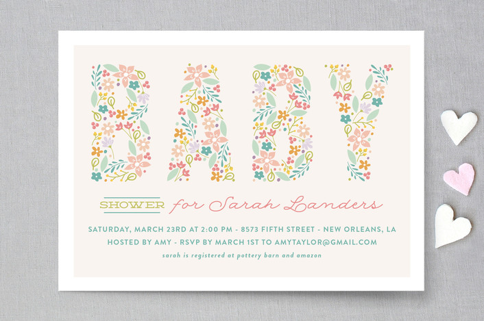 spring garden baby shower invitations by chasity s minted