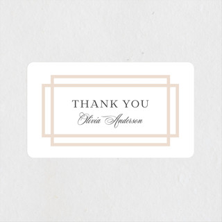Timeless Love Bridal Shower Stickers