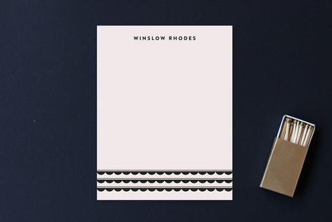 Scalloped Swagger Business Stationery