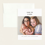 Flat Birth Announcements Thank You Cards
