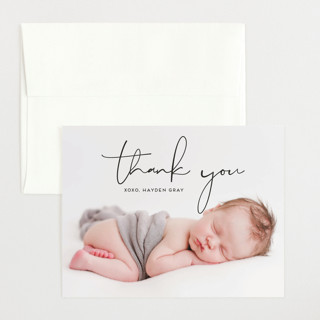 Modish Flat Birth Announcements Thank You Cards