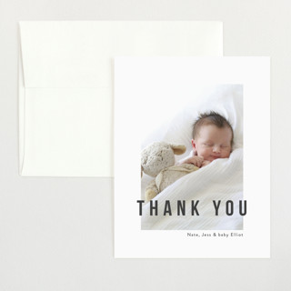 Pure Love Flat Birth Announcements Thank You Cards