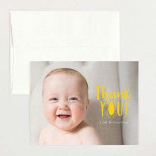 Little Sonshine Flat Birth Announcements Thank You Cards