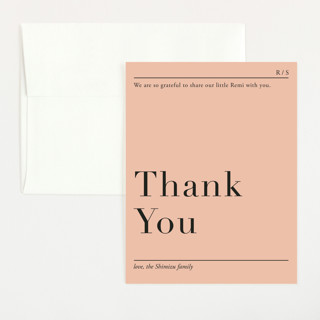 Prologue Flat Birth Announcements Thank You Cards