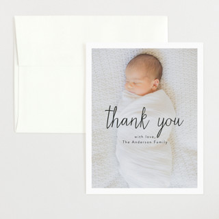 Norfolk Flat Birth Announcements Thank You Cards