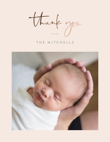 Foil Pressed Birth Announcement