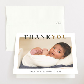 Nicknamed Newborn Birth Announcements Thank You Cards