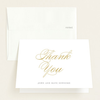 Elegant Trio Birth Announcements Thank You Cards