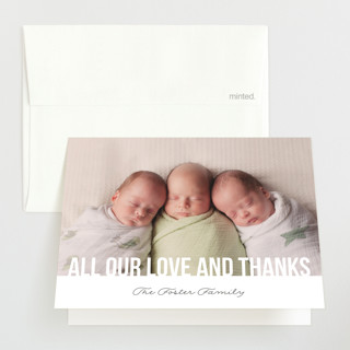 Instant Family Birth Announcements Thank You Cards