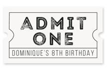 Action Children's Birthday Party Stickers