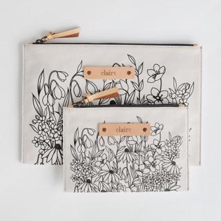 Bohemian Florals Catch-All Pouch Set