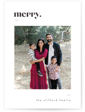 Bold Merry Christmas Photo Cards