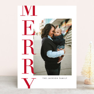 Offset Merry Christmas Photo Cards