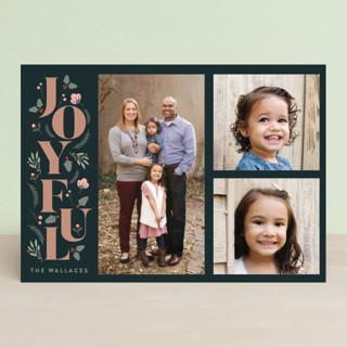 Foliage Joyful Christmas Photo Cards