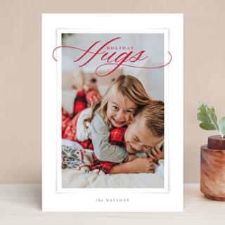 Holiday Hugs Christmas Photo Cards