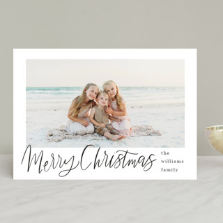 Minimal Lettered Christmas Christmas Photo Cards
