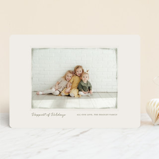 Vintage Frame Christmas Photo Cards