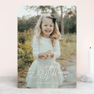 Joyful Holiday Christmas Photo Cards