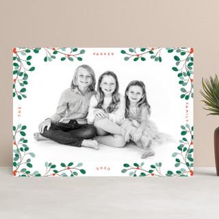 A little Mistletoe Christmas Photo Cards