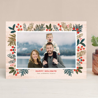 Festive Forest Flora Christmas Photo Cards