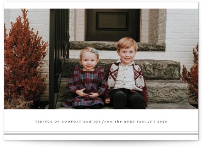 Triline Christmas Photo Cards