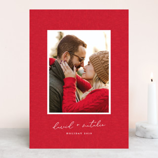 Grosgrained Christmas Photo Cards
