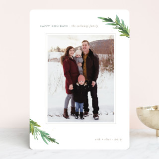 Understated Pines Christmas Photo Cards