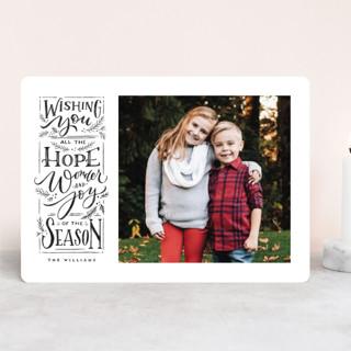 Hope + Joy Christmas Photo Cards