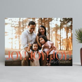 JoyJoyJoy Christmas Photo Cards