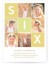 Simply Six Petite Children's Birthday Party Invitations
