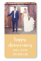 Anniversary Photo Grid Custom Stickers