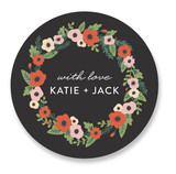 Flower Wreath Custom Stickers