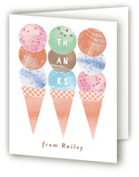 Scoop Childrens Birthday Party Thank You Cards